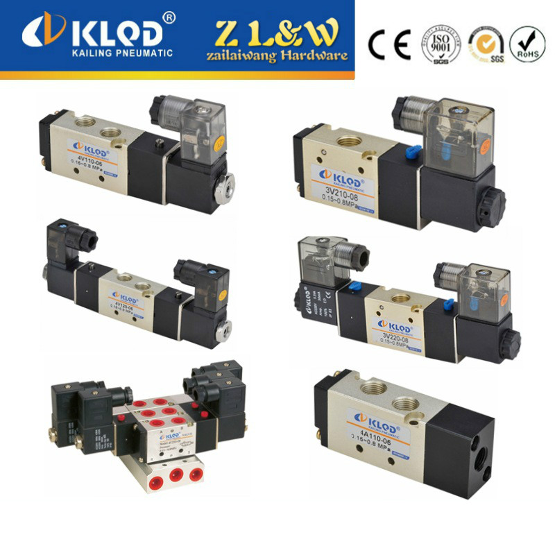 4V series pneumatic electromagnetic reversing valve pneumatic valve of two single and double electric pneumatic components<br>