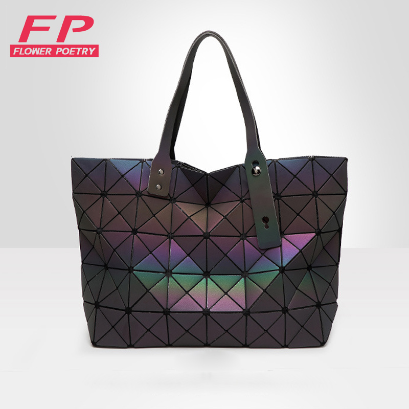 Women BaoBao Bag Geometry Folding Bags Luminous Channels Handbags Casual Tote Bao Bao Women Shoulder Bags Crossbody Bag bolsa<br><br>Aliexpress