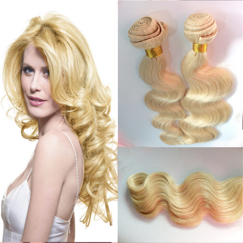 Hot Rosa Hair Products Unprocessed Remy Hair Weaves #613 Blonde 6A Body Wave 2 Bundles/Lot Brazilian Virgin Hair Free Shipping<br><br>Aliexpress