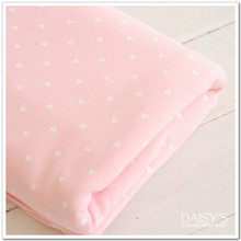 50*170cm cotton knitting baby jersey fabric printed white peach heart cotton knitted fabric by half meter
