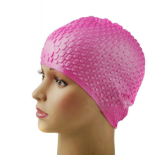 SZ-LGFM-Silicone Waterproof Swimming Cap -Deep Pink