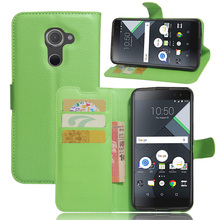 10 Pcs/Lot Wallet With Stand PU Leather Case For BLACKBERRY DTEK60 Phone Bag With 3 Card Holders 1 Bill Side(China)