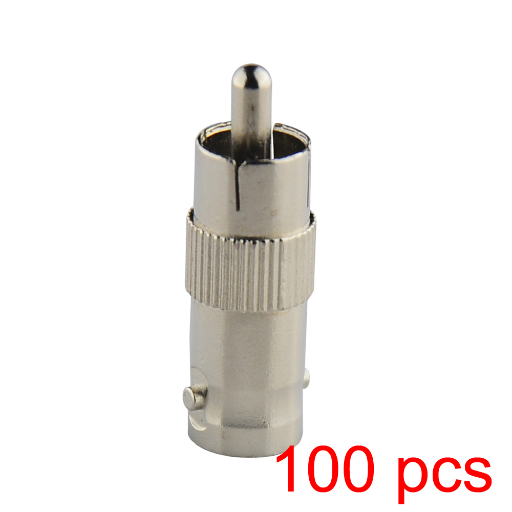 100x RCA Male to BNC Female Jack Connector Adapter Coupler Plug for CCTV Camera<br><br>Aliexpress