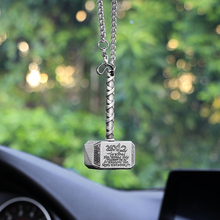 Raytheon hammer Ornaments Car Hanging Pendant Decoration Rear View Mirror Car Styling Interior Accessories For Thor Car Ornament(China)