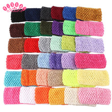 TINSAI Fashion Chest Wrap Knit 10Pc 7*14CM 30 Colors Elastic Girl Crochet Tutu Tube Top Crochet headband Christmas girl presents