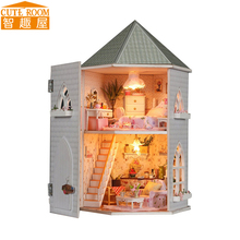 Assemble DIY Doll House Toy Wooden Miniatura Doll Houses Miniature Dollhouse toys With Furniture LED Lights Birthday Gift 13816