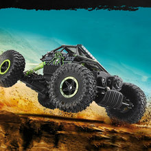 1:18 Toy RC Car 2.4G 4WD Rock Crawlers 4 Driving Car Double Motors Drive Big Foot Car Model Off-Road Vehicle  25KM/H
