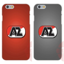 For Apple iPhone 4 4S 5 5C SE 6 6S 7 7S Plus 4.7 5.5 Soft TPU Silicon Best Cases AZ Alkmaar Sports European Football Team Logo