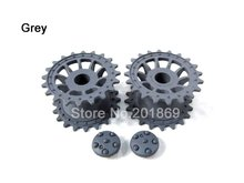 Henglong plastic driving wheels, sprockets(grey) for 1:16 1/16 henglong 3818-1 Germany Tiger 1 rc tank, henglong parts for tank(China)