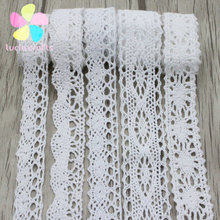 Lucia Crafts 2yards/lot Cotton lace fabric embroidered net lace trim ribbon for home decoration 17012012(China)