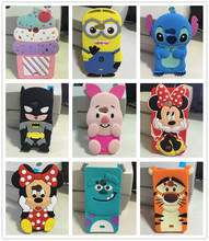3D Cartoon lovely Minnie pig Batman Sulley Tiger Ice Cream Stitch Silicone Case Cover For Microsoft Nokia Lumia 535