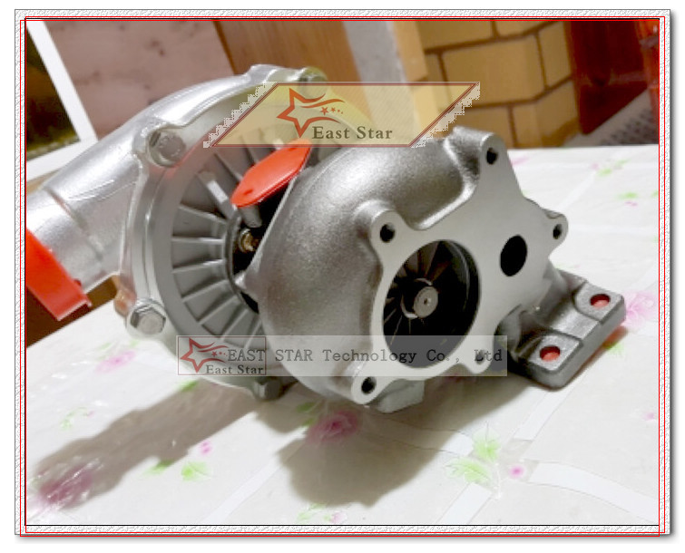 Oil cooled Turbo T3T4 T3 T4 T3T4 TO4E Turbine AR .63 comp AR .50 Turbocharger For Vehicle tuning Universal 155-170kw 5 bolts (5)