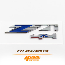 Z71 4x4 Sticker Blue Silver Car-Styling Chrome Finished Decal Fender Bonnet Emblem Badge Decoration For Chevrolet Z71