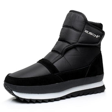 Men boots 2017 winter new arrivals men Ankle boots Waterproof plush Non-slip flat men snow boots Plus size 45