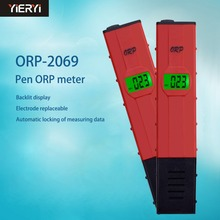 yieryi 100% New Brand ORP-2069 LCD Digital Type Red Pen PH Tester Water Quantity Pool Tester ORP Meter(China)