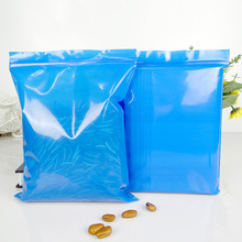 100pcs/lot size=3x4cm to20x30cm Blue color Plastic PE zipper ziplock reclosable valve packing bags, thickness 200micron