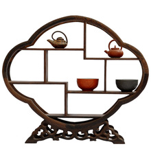 Redwood crafts Shelf Decoration Begonia shaped stone antique wooden wings more treasure frame decorative frame factory outlets
