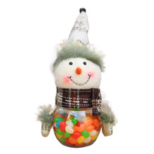 Merry Christmas Santa Candy Bag Doll Kids Gift Sugar Seeds holder Toy case Elk/Snowman Packaging Candy Jar Can child Gift decor