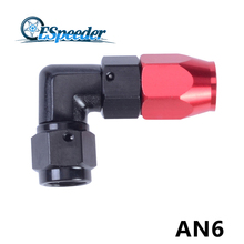 ESPEEDER AN6 Enforced Oil Hose End 90 Degree Aluminum Fittings Hose End Oil Fuel Line Adapter(China)