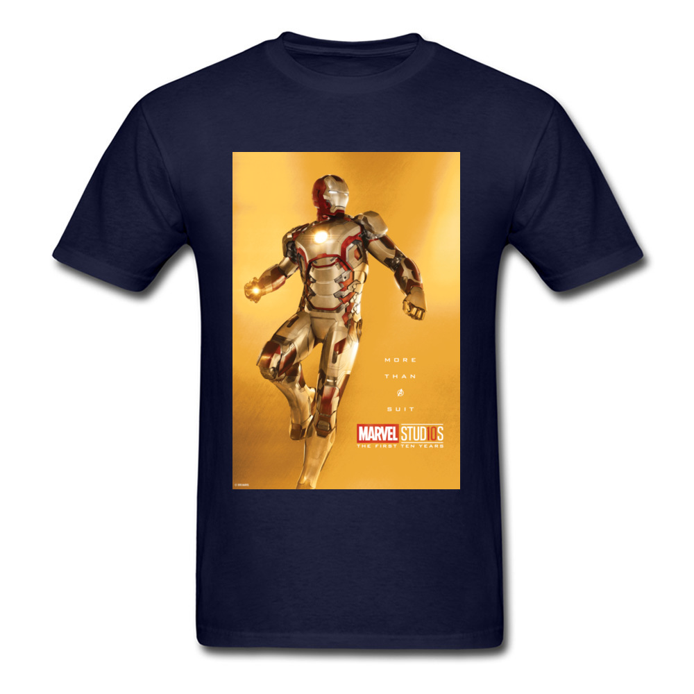 Tops Tees Marvel More Than A Suit Thanksgiving Day Short Sleeve Pure Cotton Round Neck Men Top T-shirts Casual Tshirts Prevalent More Than A Suit navy