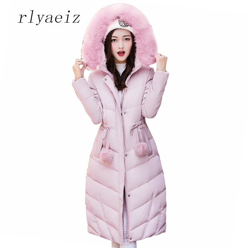 RLYAEIZ Hot New 2017 Winter Jacket Women Parka Long Fashion Womens Outerwear Coats Thicken Hooded Warm Ladies Jackets and CoatsÎäåæäà è àêñåññóàðû<br><br>