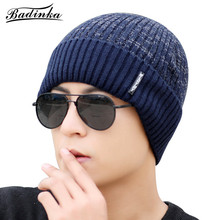 hot selling korean sport autumn winter cold weather cool men red black oversized cotton knitted slouchy beanie cap male hats and caps wholesale(China)