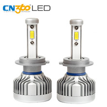 CN360 2 PCS H7 LED CITIZEN  Headlight Bulb 10000LM Fog Lamp 6000K 12V 60W Mini Size White Plug & Play With Cooling Special Fan