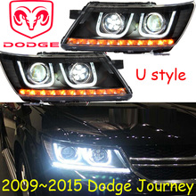 Journey headlight,2009~2015,Fit for LHD,If RHD need add 200USD,Free ship!Journey fog light,2ps/set+2pcs Aozoom Ballast;Journey