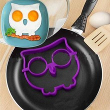 Owl shaped silicone egg tool omelet Creative fried egg mold ring fry egg shaper cooking molds