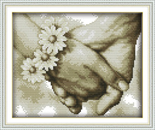 Happy Hand in hand  Printed Canvas DMC Counted Chinese Cross Stitch Kits printed Cross-stitch set Embroidery Needlework