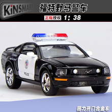 Gift for baby 1:38 1pc 12.5cm delicacy Kinsmart Ford mustang mini alloy police car model home decoration boy children toy(China)