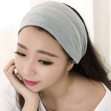 2016 Fashion Women Hair Accessory Full Vintage Wide Ribbon Comfortable Cotton Party Halloween Headband Hair Band Bandanas Hot