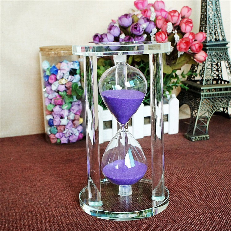 Excellent Timer Hourglass Craft 3/5/10/ 15Minutes Count Timer Sand Clock Crystal 3D GIft Art Sandglass Home Decoration Accessory(China)