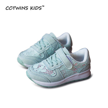 CCTWINS CRIANÇAS 2017 Primavera Outono Rendas de Algodão Moda Bebê Menina Crianças Sapato Respirável Sneaker Trainer Marca Esporte Criança Rosa