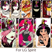Akabeila Plastic Silicon TPU Covers For LG Spirit H440N C70 4G LTE H420 H440Y H422 Case DIY Painted Cartoon Characters Pattern(China)