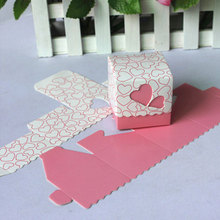 Ribbon Candy Box Packing Wedding Favour Birthday Heart Shaped Gift Supplies