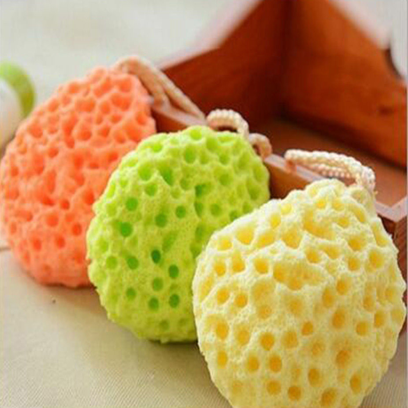 Baby Kids Bath Brushes Bath Sponge Massage Baby Shower Exfoliating Body Cleaning Scrubber