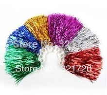 30g Cheerleader pompoms (50 pieces/lot) Metalic pompons Cheerleading sports supplies Color and handle can choose Free shipping