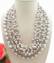 4 strands Grey Pearl Necklace