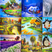 Adult 1000 pieces thick puzzle of paper landscape puzzle  with original box kids educationalchristmas Toy Free shipping J015