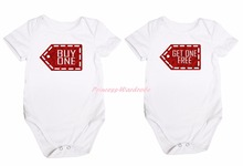 Twins Bling Buy One Get One Free White 2 Pcs Romper Nb-18m