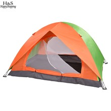 Outdoor Camping Hiking Tent Practical Folding Double-Layer Waterproof 2 Persons Tent(China)
