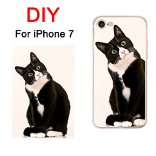 "DIY Phone Cases For Apple iPhone 7 4.7"" Case Cover Personality  Customized Silicone Soft Back Shell Picture Print For iPhone7"