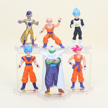 6pcs/set 12cm dragon ball Z Resurrection F Super Saiyan Son Goku Kakarotto Frieza Vegeta action figure toys