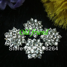 18mm Rhinestone Alloy Metal Button For Hair Accesory, Clothing 20pcs/lot Free shipping(China)