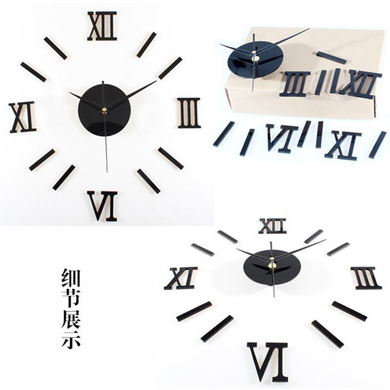 HTB1n2hHaGLN8KJjSZFKq6z7NVXag - Luxury Large Wall Clock Living Room DIY 3D Home Decoration Mirror Art Design Fashion Wall Posters Decor Crafts Wall Clock New