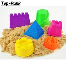 2*6pcs Beach toys Castle Building Mould Mars Sand Polymer Clay Candy Fimo Sculpture Super Light Clay Plasticine Mold Game Tool(China)