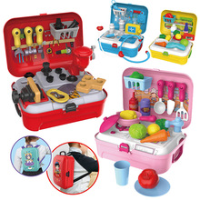Hot Baby Miniature Kitchen Plastic Pretend Play Food Children Toys with Music Light Kids Kitchen Cooking Toy Set for Girls Games(China)