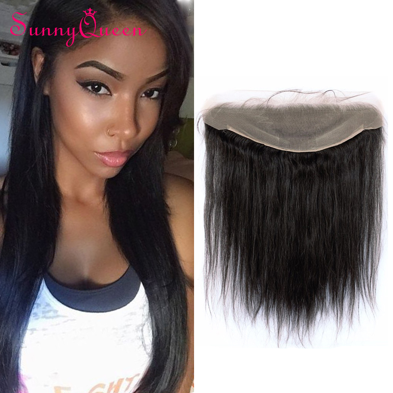 7A Grade 13x6 Ear to Ear Lace Frontal Closure with Baby Hair Bleached Knots 130% Density Malaysian Straight Full Lace Frontal<br><br>Aliexpress