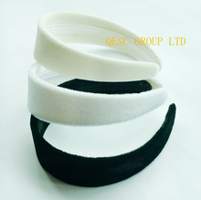 4cm VELVET Headband in wholesale price (5pcs/lot),use for Sinamay Fascinators or hair ornament.black,white,ivory cream color.